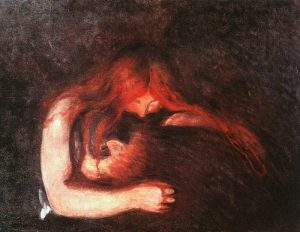 Description: The Vampire. 1893. Edvard Munch. Munch Museum at Oslo. xfgxdtjh