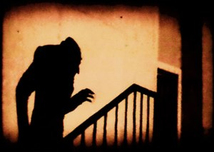 Iconic scene from F. W. Murnau's Nosferatu, 1922 A screenshot of the 1922 film, Nosferatu. Though the film is in the public domain in the US, It is not in the public domain outside of US (and its origin). License details Public domain in the United States, likely copyrighted in Germany until at least 2029.